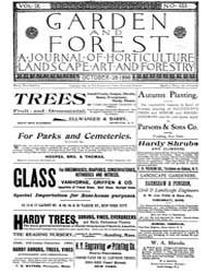 Garden and Forest Volume 9 Issue 453 Oct... by Charles S. Sargent