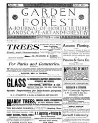 Garden and Forest Volume 9 Issue 454 Nov... by Charles S. Sargent