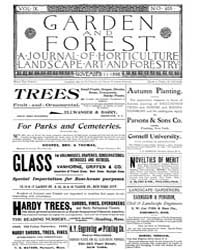Garden and Forest Volume 9 Issue 455 Nov... by Charles S. Sargent