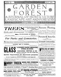 Garden and Forest Volume 9 Issue 456 Nov... by Charles S. Sargent