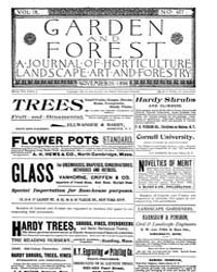 Garden and Forest Volume 9 Issue 457 Nov... by Charles S. Sargent