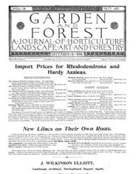 Garden and Forest Volume 9 Issue 460 Dec... by Charles S. Sargent