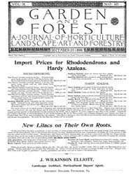 Garden and Forest Volume 9 Issue 461 Dec... by Charles S. Sargent