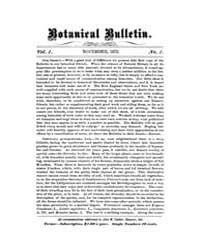 Botanical Bulletin : 1875 ; Nov. No. 1 V... Volume Vol. 1 by Ruddat, M.