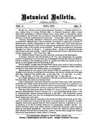 Botanical Bulletin : 1876 ; May No. 7 V ... Volume Vol. 1 by Ruddat, M.