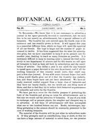 Botanical Gazette : 1879 ; Jan. No. 1 Vo... Volume Vol. 4 by Ruddat, M.