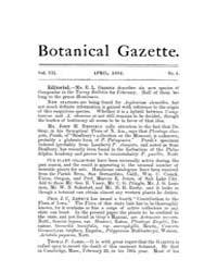 Botanical Gazette : 1882 ; Apr. No. 4 Vo... Volume Vol. 7 by Ruddat, M.