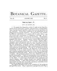 Botanical Gazette : 1885 ; Aug. No. 8 Vo... Volume Vol. 10 by Ruddat, M.