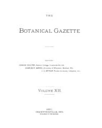 Botanical Gazette : 1887 ; Jan. No. 1 Vo... Volume Vol. 12 by Ruddat, M.