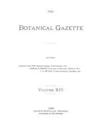 Botanical Gazette : 1889 ; Jan. No. 1 Vo... Volume Vol. 14 by Ruddat, M.