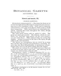 Botanical Gazette : 1892 ; Sep. No. 9 Vo... Volume Vol. 17 by Ruddat, M.