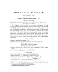 Botanical Gazette : 1894 ; Nov. No. 11 V... Volume Vol. 19 by Ruddat, M.