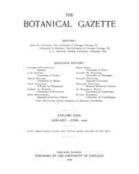 Botanical Gazette : 1900 ; Jan. No. 1 Vo... Volume Vol. 29 by Ruddat, M.