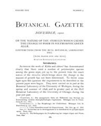Botanical Gazette : 1900 ; Nov. No. 5 Vo... Volume Vol. 30 by Ruddat, M.