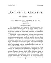 Botanical Gazette : 1900 ; Oct. No. 4 Vo... Volume Vol. 30 by Ruddat, M.