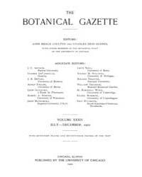 Botanical Gazette : 1902 ; Jul. No. 1 Vo... Volume Vol. 34 by Ruddat, M.