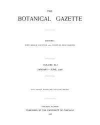 Botanical Gazette : 1906 ; Jan. No. 1 Vo... Volume Vol. 41 by Ruddat, M.