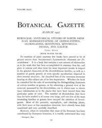 Botanical Gazette : 1907 ; Mar. No. 3 Vo... Volume Vol. 43 by Ruddat, M.