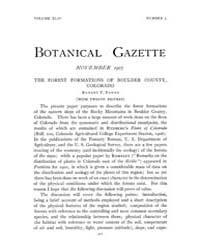 Botanical Gazette : 1907 ; Nov. No. 5 Vo... Volume Vol. 44 by Ruddat, M.