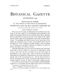 Botanical Gazette : 1908 ; Dec. No. 6 Vo... Volume Vol. 46 by Ruddat, M.