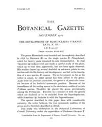 Botanical Gazette : 1912 ; Nov. No. 5 Vo... Volume Vol. 54 by Ruddat, M.