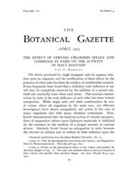 Botanical Gazette : 1913 ; Apr. No. 4 Vo... Volume Vol. 55 by Ruddat, M.