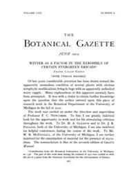 Botanical Gazette : 1914 ; Jun. No. 6 Vo... Volume Vol. 57 by Ruddat, M.
