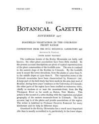 Botanical Gazette : 1917 ; Nov. No. 5 Vo... Volume Vol. 64 by Ruddat, M.