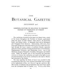 Botanical Gazette : 1918 ; Dec. No. 6 Vo... Volume Vol. 66 by Ruddat, M.