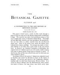 Botanical Gazette : 1918 ; Oct. No. 4 Vo... Volume Vol. 66 by Ruddat, M.