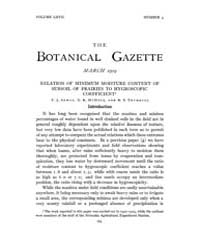 Botanical Gazette : 1919 ; Mar. No. 3 Vo... Volume Vol. 67 by Ruddat, M.
