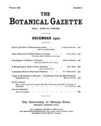 Botanical Gazette : 1920 ; Dec. No. 6 Vo... Volume Vol. 70 by Ruddat, M.