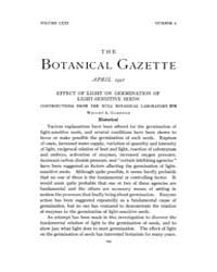 Botanical Gazette : 1921 ; Apr. No. 4 Vo... Volume Vol. 71 by Ruddat, M.