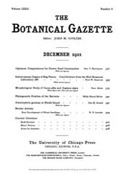 Botanical Gazette : 1921 ; Dec. No. 6 Vo... Volume Vol. 72 by Ruddat, M.
