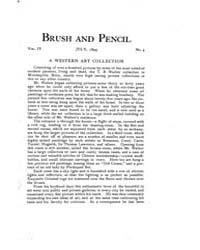 Brush and Pencil : 1899 ; Jul. No. 4 Vol... Volume Vol. 4 by Browne, Charles, Francis