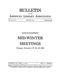 Bulletin of the American Library Associa... Volume Vol. 14 by