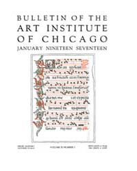 Bulletin of the Art Institute of Chicago... Volume Vol. 11 by Dougherty, Hampden, Paul