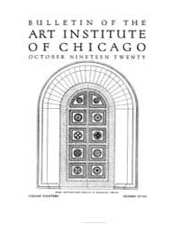 Bulletin of the Art Institute of Chicago... Volume Vol. 14 by Dougherty, Hampden, Paul