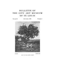 Bulletin of the City Art Museum of St. L... Volume Vol. 2 by Lemagny, J C