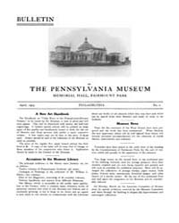 Bulletin of the Pennsylvania Museum : 19... Volume Vol. 1 by