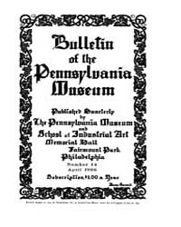 Bulletin of the Pennsylvania Museum : 19... Volume Vol. 4 by