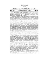 Bulletin of the Torrey Botanical Club : ... Volume Vol. 7 by