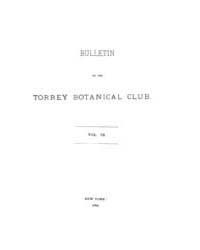 Bulletin of the Torrey Botanical Club : ... Volume Vol. 9 by