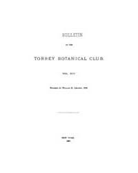 Bulletin of the Torrey Botanical Club : ... Volume Vol. 14 by