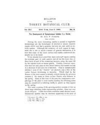 Bulletin of the Torrey Botanical Club : ... Volume Vol. 15 by