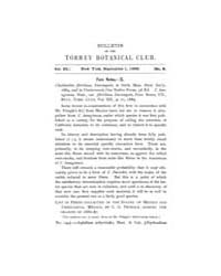 Bulletin of the Torrey Botanical Club : ... Volume Vol. 15 by