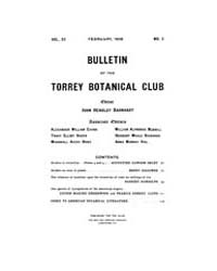 Bulletin of the Torrey Botanical Club : ... Volume Vol. 33 by