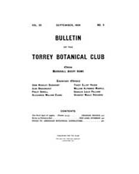 Bulletin of the Torrey Botanical Club : ... Volume Vol. 35 by