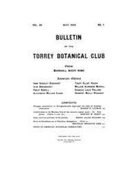 Bulletin of the Torrey Botanical Club : ... Volume Vol. 36 by