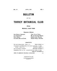 Bulletin of the Torrey Botanical Club : ... Volume Vol. 37 by